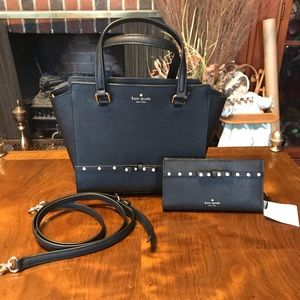 Kate Spade Jeweled Small Hadlee & Wallet NWT